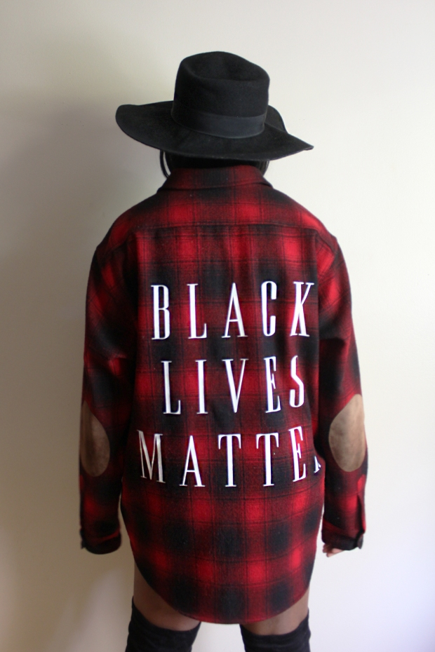 BLM Flannel Closeup